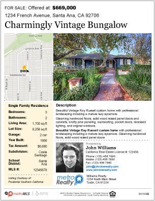 Property Flyer Sample